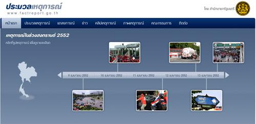 เว็บรายงานเหตุการณ์ จลาจลเมื่อสงกรานต์