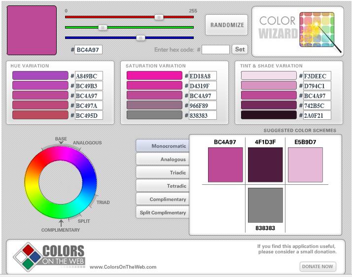 โปรแกรมเลือกสี สำหรับเว็บไซต์
