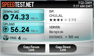 speedtest internet CHULA