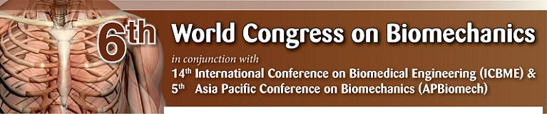 The 6th World Congress on Biomechaics 2010