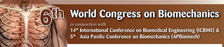 The 6th World Congress on Biomechaics 2010