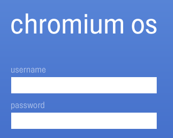 Chrome OS login
