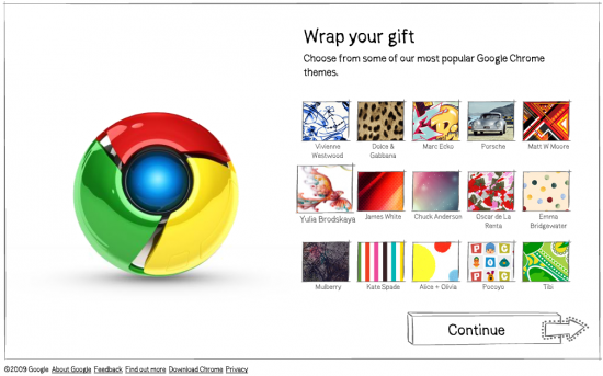 ส่ง Google Chrome เป็นของขวัญให้เพื่อน