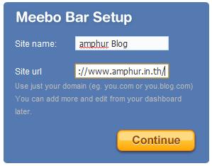 meebo bar setup