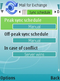 Sync schedule setup