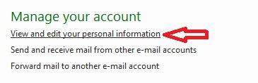 hotmail options การตั้งค่าอีเมลสำรอง และ�