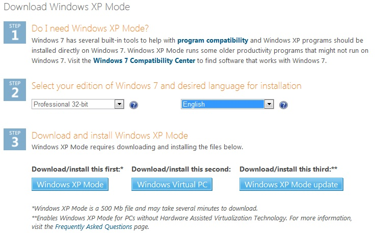 Reviews: Windows XP Mode on Windows 7 | Amphur in th