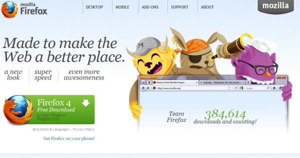 ดาวน์โหลด Firefox 4