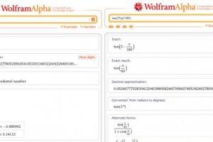 Wolfam Alpha and Unit Circle