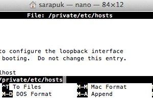 วิธีแก้ไข host file ใน Mac OS X