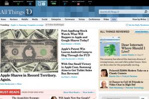 การออกแบบ หน้าแรกของ 7 เว็บไซต์ข่าวเทคโนโลยี