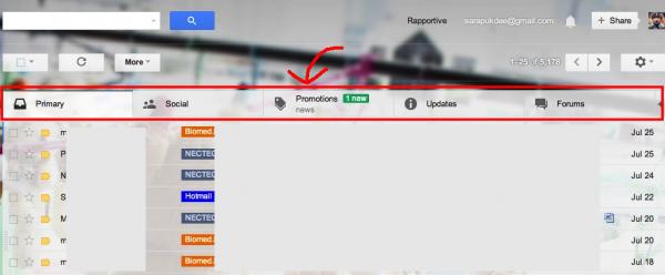 Inbox Tabs in Gmail