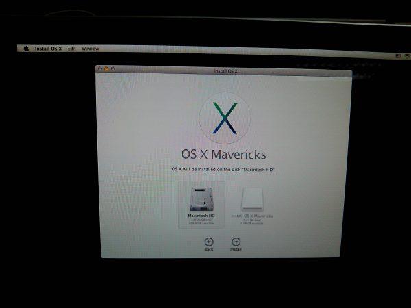 เลือก Drive ที่จะติดตั้ง OSX