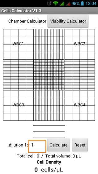 Chamber calculator