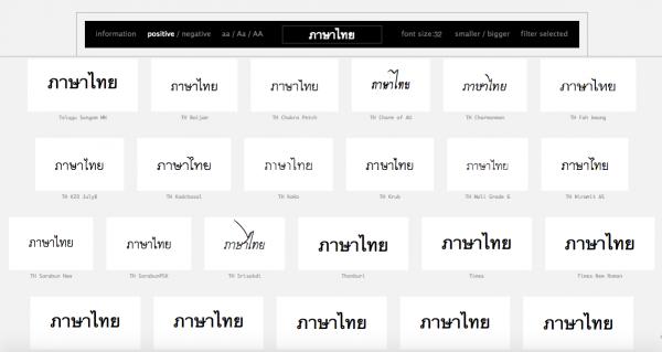 ทดสอบใช้งานภาษาไทยใน Wordmark.it