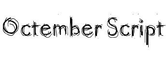 Octember Script Font