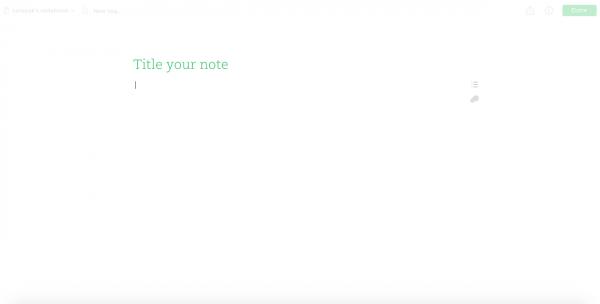 Evernote เวอร์ชั่นใหม่ หน้าเขียนบันทึก โล่งมาก