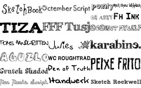 Free Hand Drawn Fonts