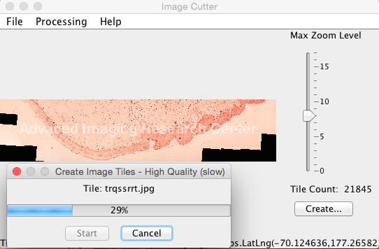 Gmap cutter