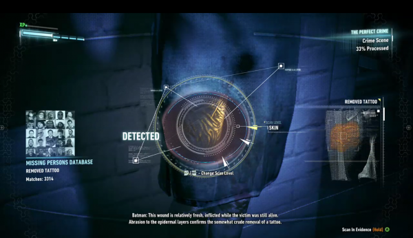 Detective Mode in Batman: Arkham Knight