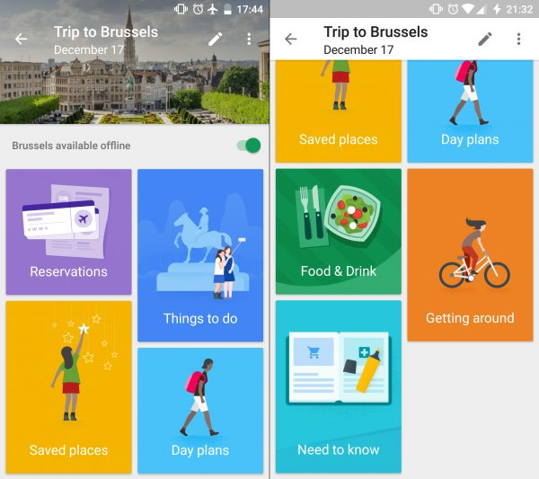 Google Trips - Travel Planner