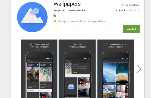 Daily wallpapers by Google