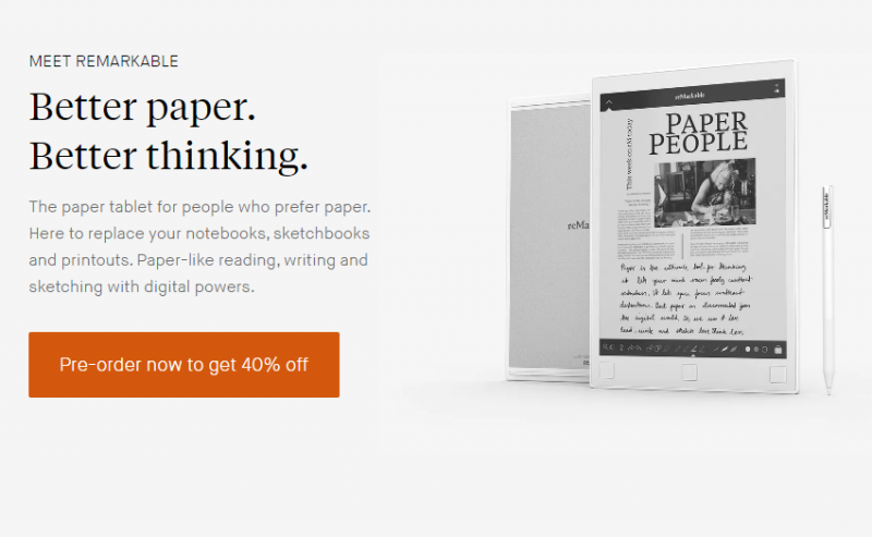 reMarkable แท็บเล็ตที่อ่านเขียนได้เหมือนกระดาษ