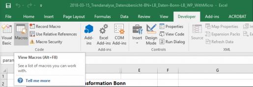 การเรียกใช้ VB และ Macro ใน Excel