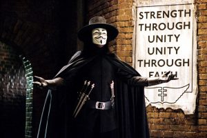 V for Vendetta introduce himself with amazing dialogue